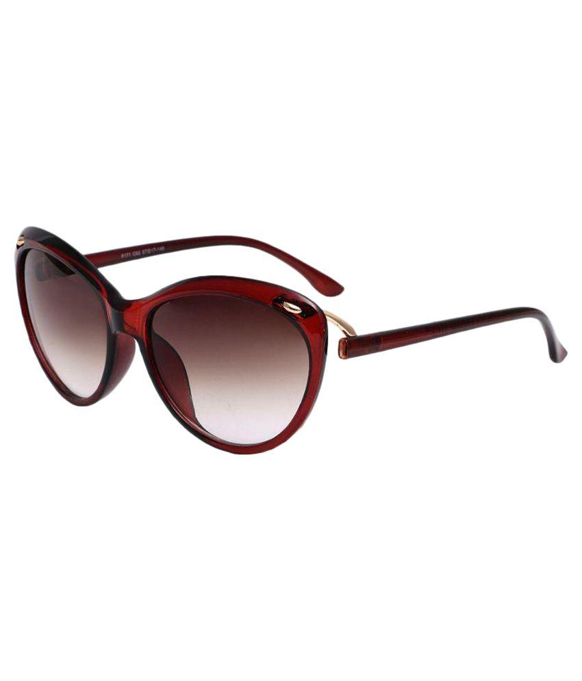 Stylen Brown Cat Eye Sunglasses ( F171-C62 )