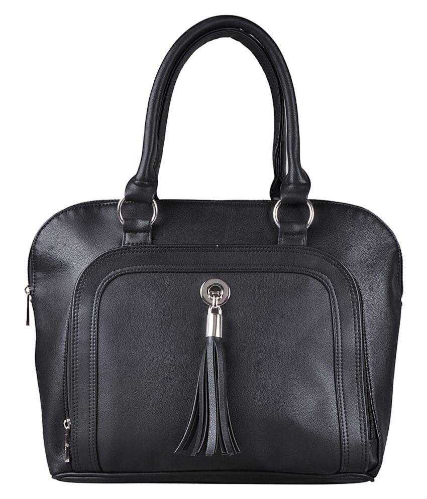 Osaiz Black Faux Leather Handheld