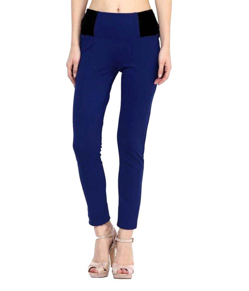 Fashion Arcade Lycra Jeggings - Blue