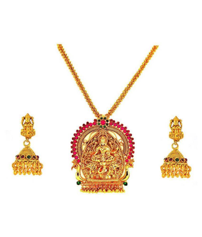 Mahalaxmi Arts Golden Necklace Setcklace
