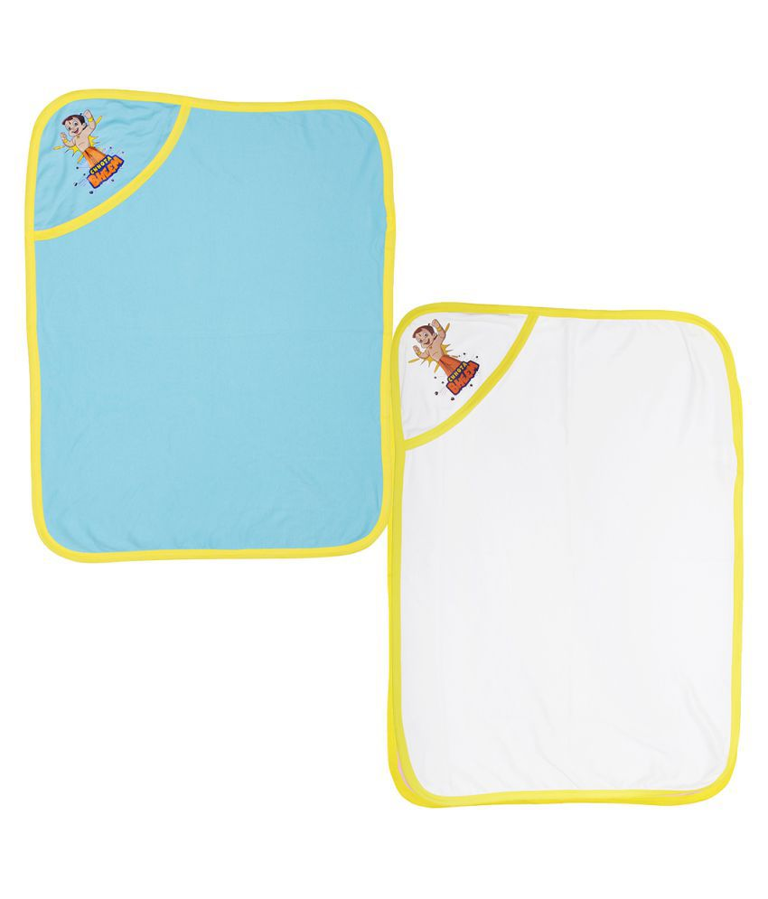 Chhota Bheem Multicolour Cotton Printed Baby Wrapper - Pack of 2