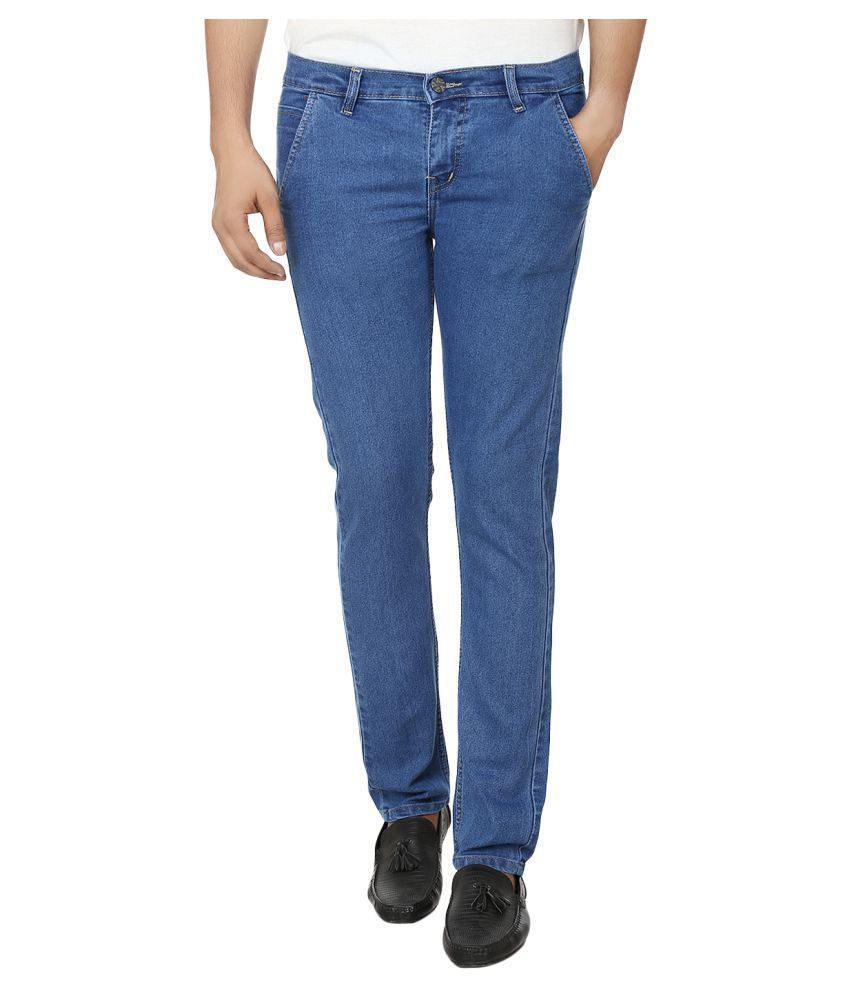 Ben Carter Blue Slim Solid Jeans