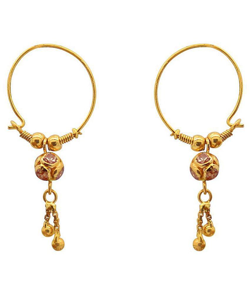Jewelmantra 22k BIS Hallmarked Gold None Hangings