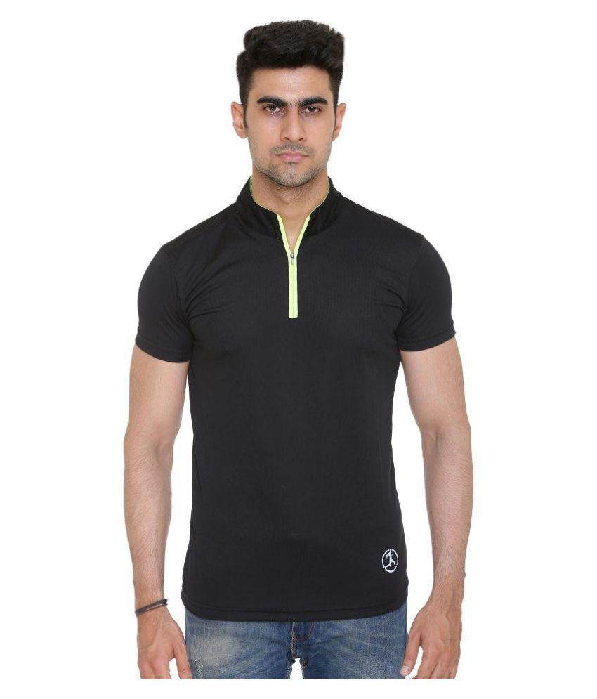 Hikes Black Polyester T-Shirt Single Pack