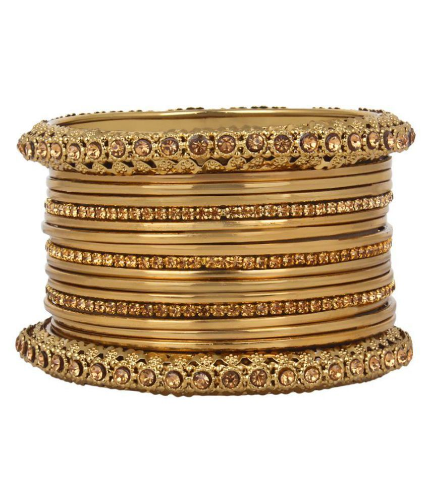 Navya Collection Golden Alloy Bangles Set