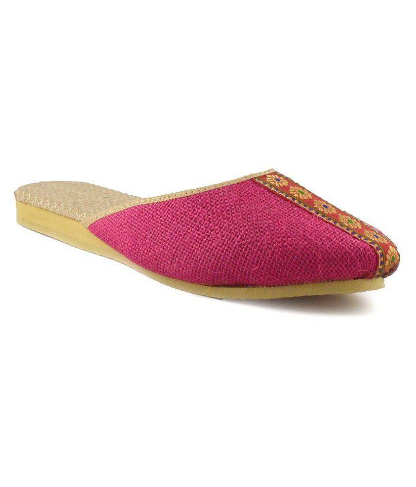 Krishti Pink Flats