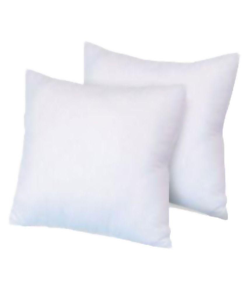 Bestellan White Fiber Filled Cushion - Pack of 2