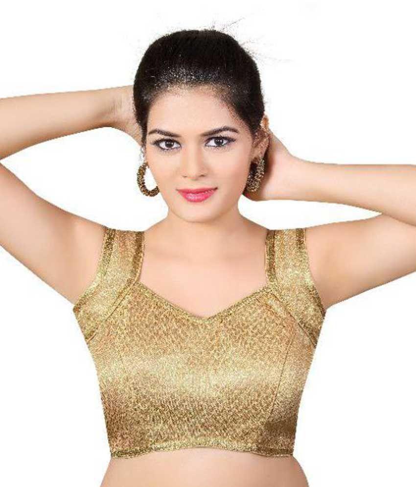 e4f3e1b7d0b9d0 Atulya Designer Blouse Gold V-Shape Back Blouse - Buy Atulya Designer  Blouse Gold V-Shape Back Blouse Online at Low Price - Snapdeal.com