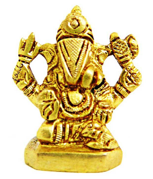 Shriram202001 Ganesha Brass Idol