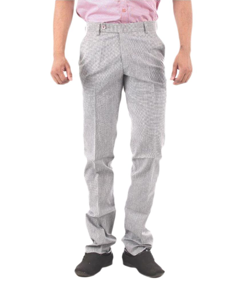 Zohn Deere Grey Slim Flat Trouser