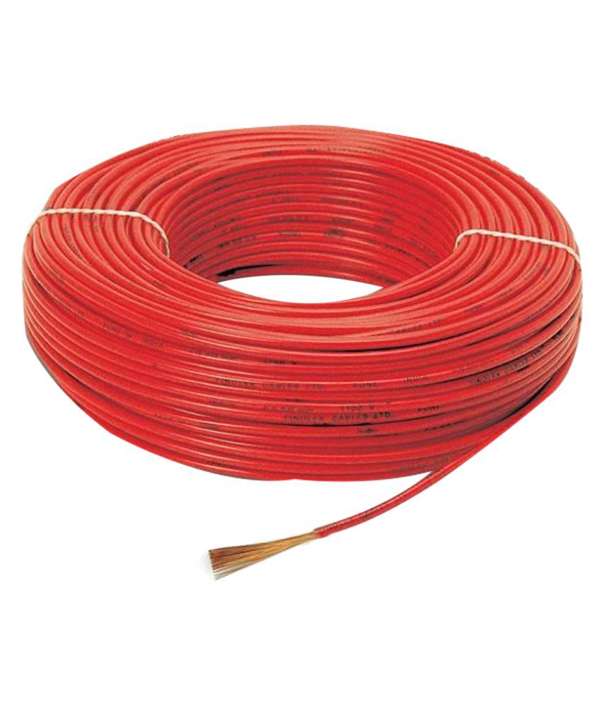 Buy Finolex House Wire Red 1 Sqmm 90mtrs Online at Low Price in ...
