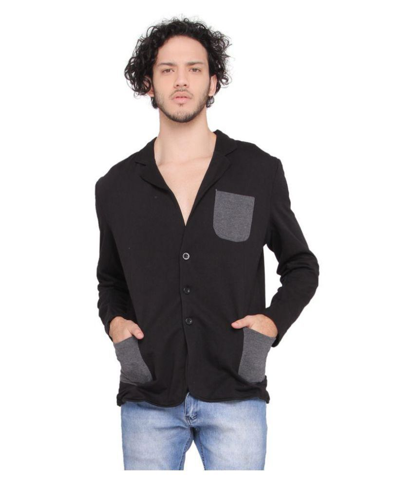 LUCfashion Black Solid Casual Suits