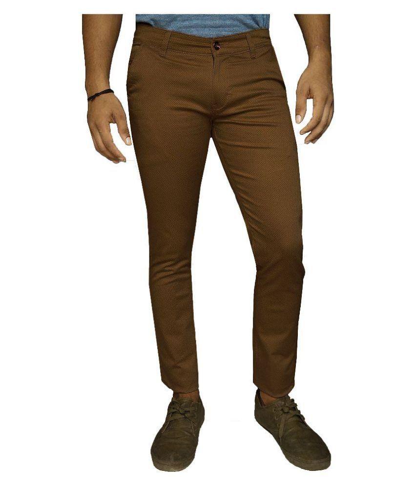 Damler Brown Slim Flat Trouser