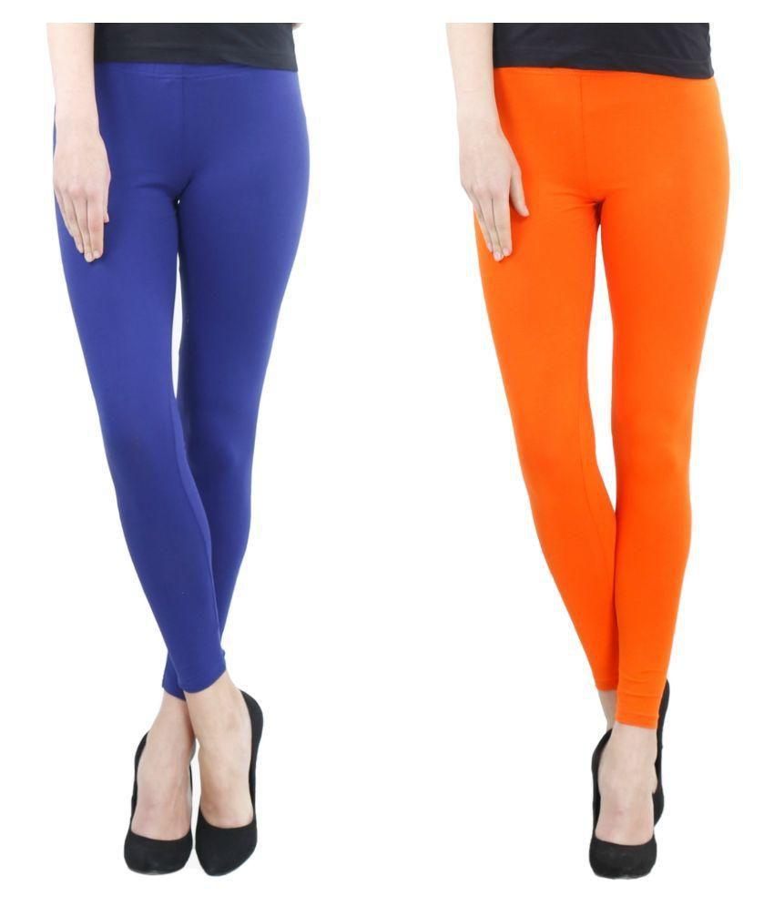 e2cd42e2a8 Fashglam Cotton Ankle Length Leggings - Combo - Royal Blue,Orange Price in  India - Buy Fashglam Cotton Ankle Length Leggings - Combo - Royal Blue,Orange  ...