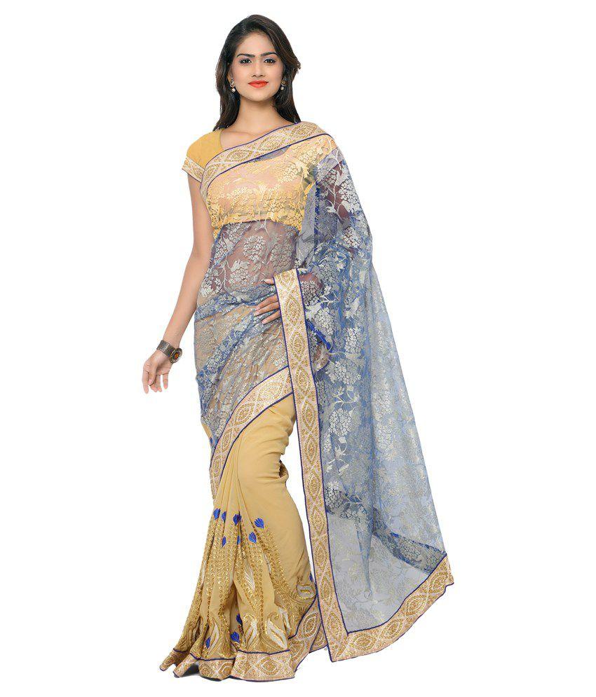 Khazana Bazaar Multicoloured Georgette Saree