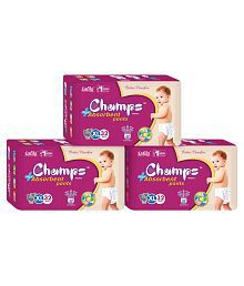 Champs High Absorbent Pant Style Diaper Extra Large(32 Pieces)- Set of 3