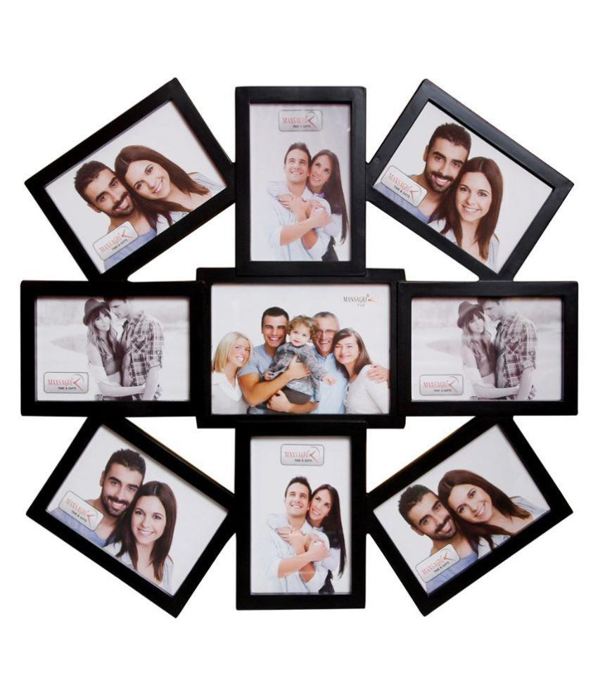 archies collage frames plastic black collage photo frame buy archies collage frames plastic. Black Bedroom Furniture Sets. Home Design Ideas