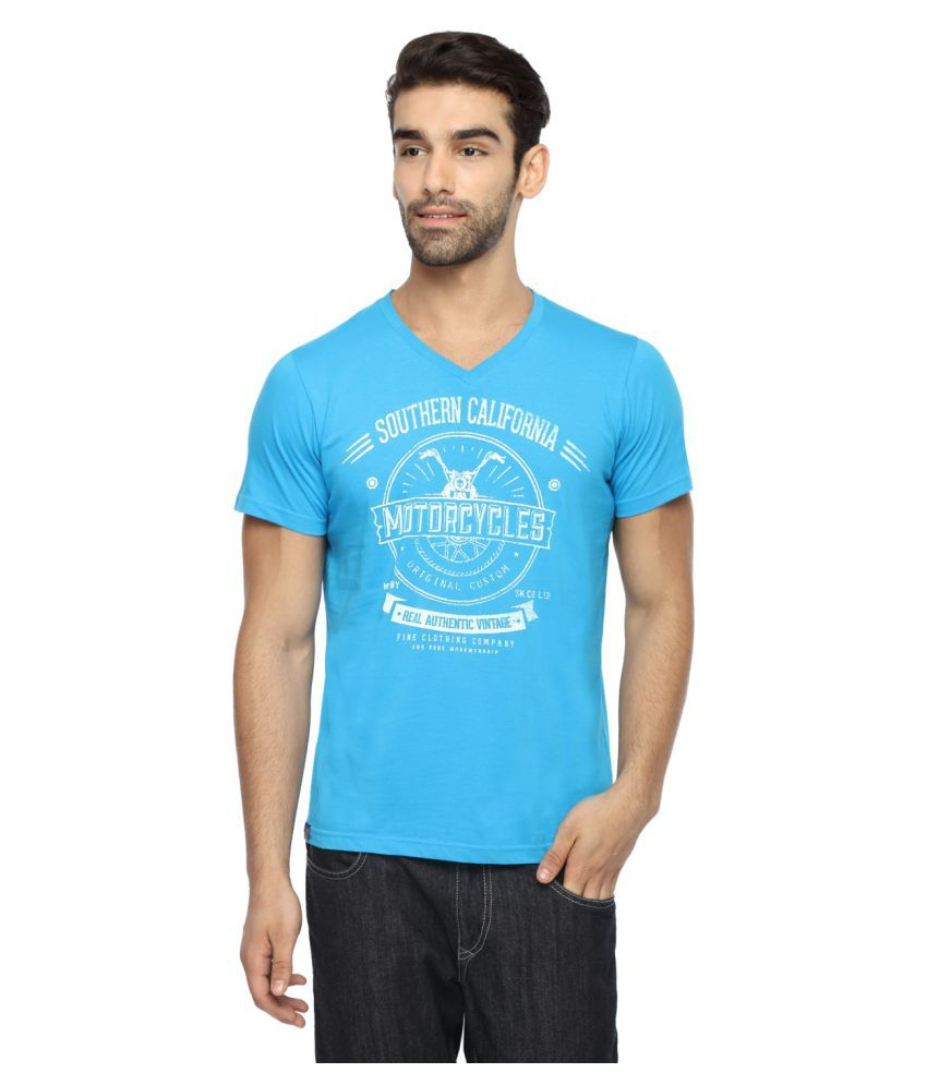 Classic Polo Blue V-Neck T-Shirt