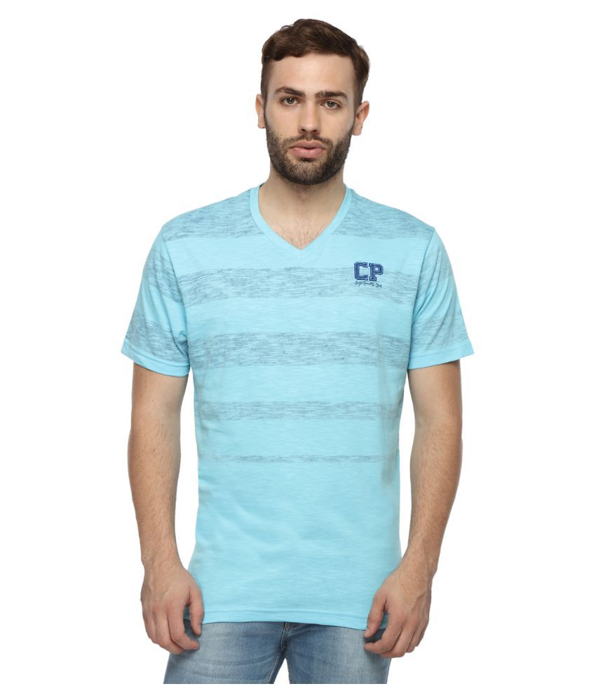Classic Polo Blue V-Neck T-Shirt