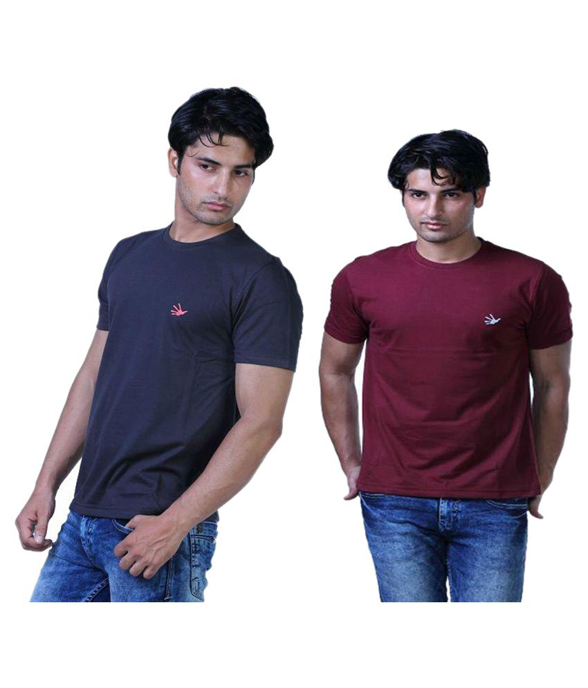 Finger's Multi Round T-Shirt Pack of 2