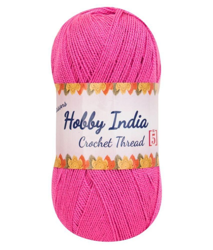 264c22812dad Ganga Acrowools Pink Crochet Thread - Set of 3  Buy Online at Best ...