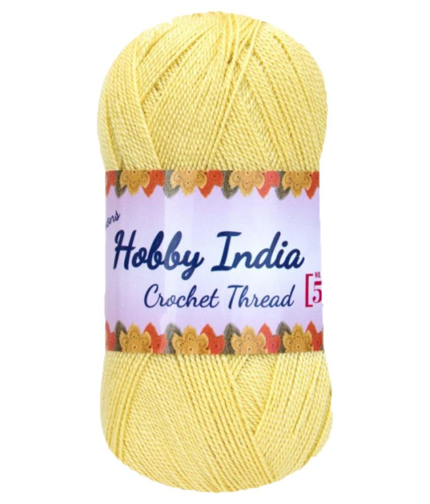 f64b61f09c90 Ganga Acrowools Yellow Crochet Thread - Set of 3  Buy Online at Best ...