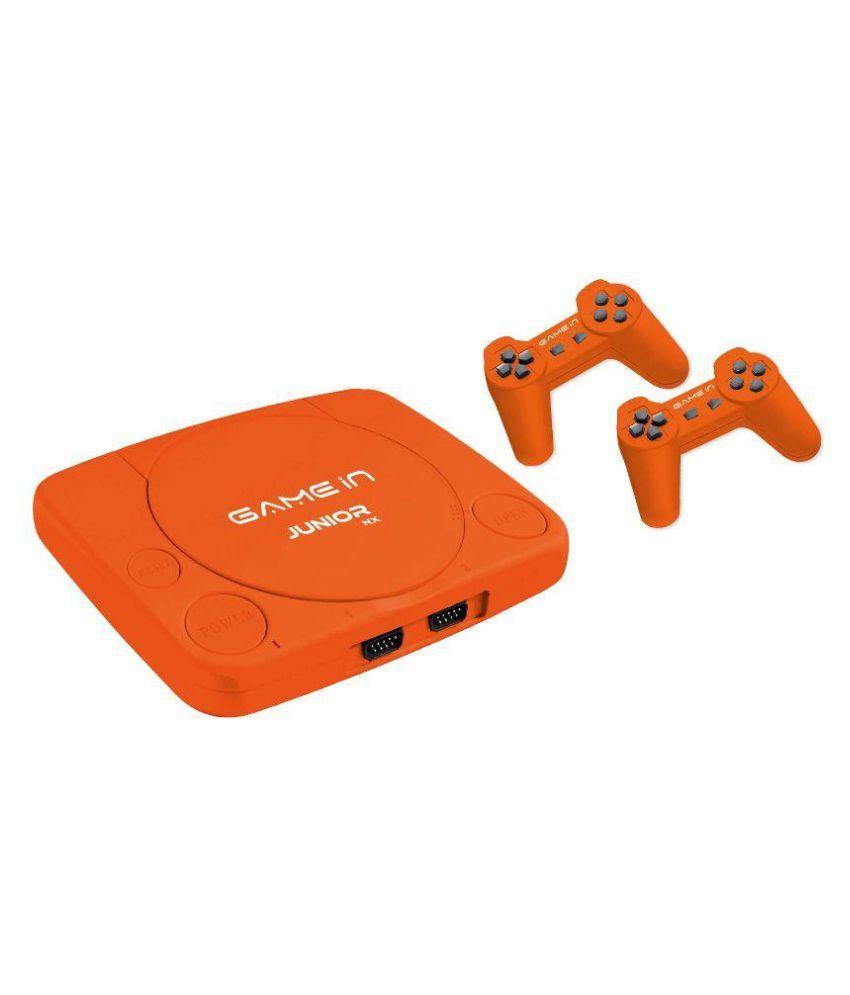 Mitashi Game In Junior NX Gaming Console With 300 In Bulit Games-Orange