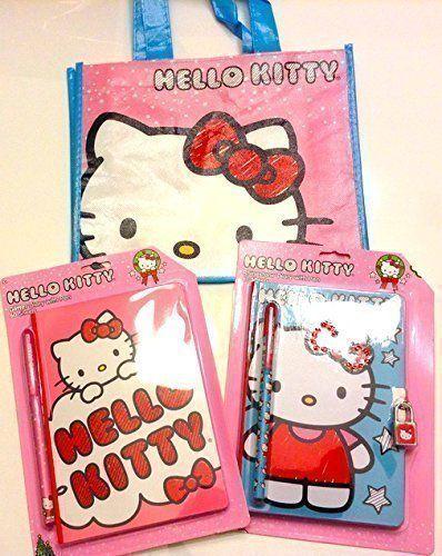 Hello Kitty Ultimate Gift Set Hard To Find Rhinestone Diary