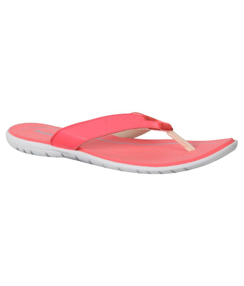 Reebok Red Slippers