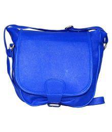 Felicita Blue Faux Leather Sling Bag