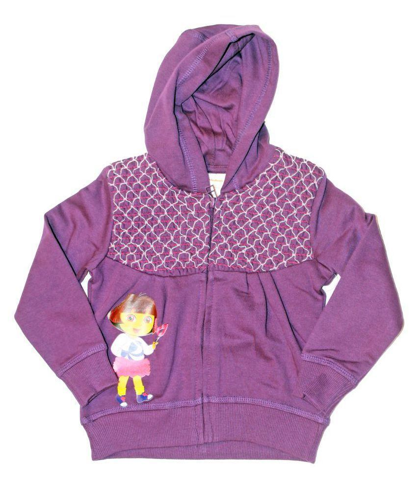 Babeezworld Purple Cotton Jacket