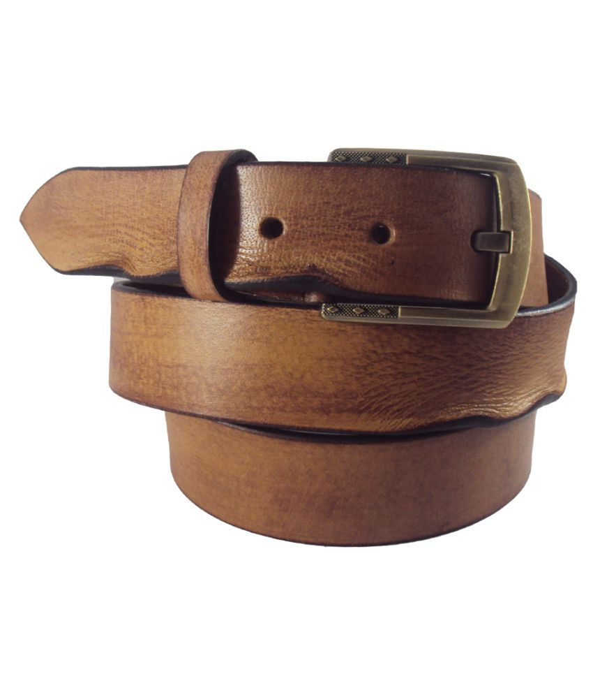 National Leathers Tan Brown Leather Casual Belts