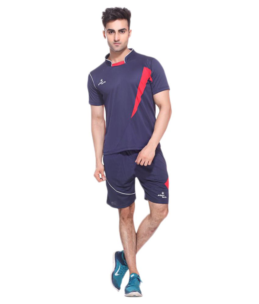 Sport Sun Navy Polyester T-Shirt Single Pack