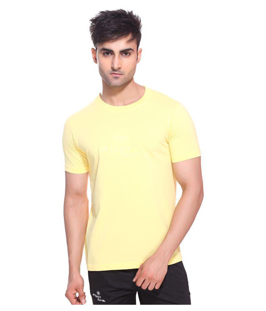Sport Sun Yellow Polyester T-Shirt Single Pack