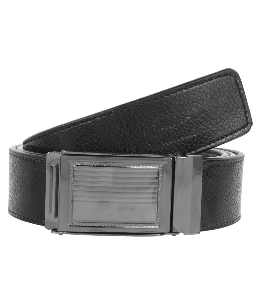 Super Matteress Black Faux Leather Casual Belts