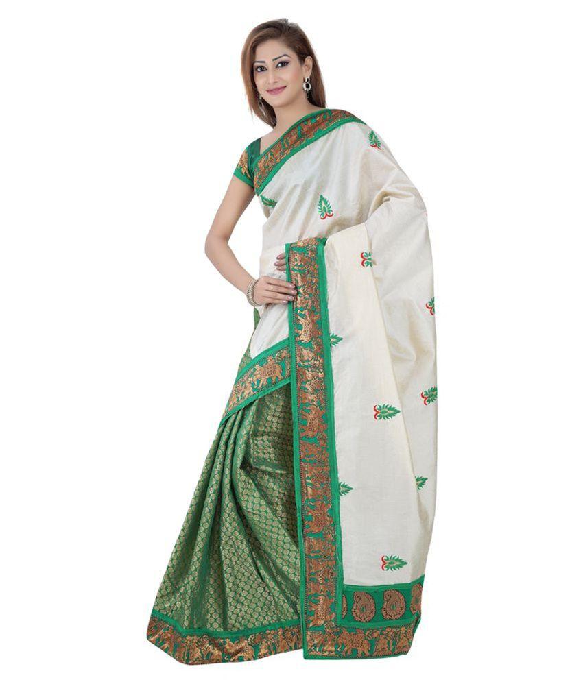 Giftsnfriends Green Art Silk Saree