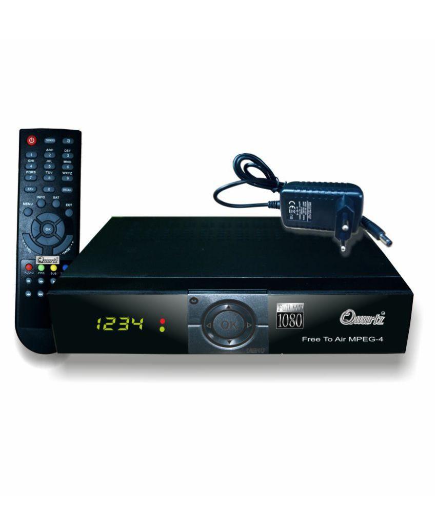 buy quartz hd mpeg 4 pvr free to air digital satellite receiver dth set top box online at. Black Bedroom Furniture Sets. Home Design Ideas