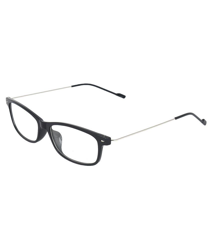 Zyaden Black Non Metal Rectangle Eyewear Frame