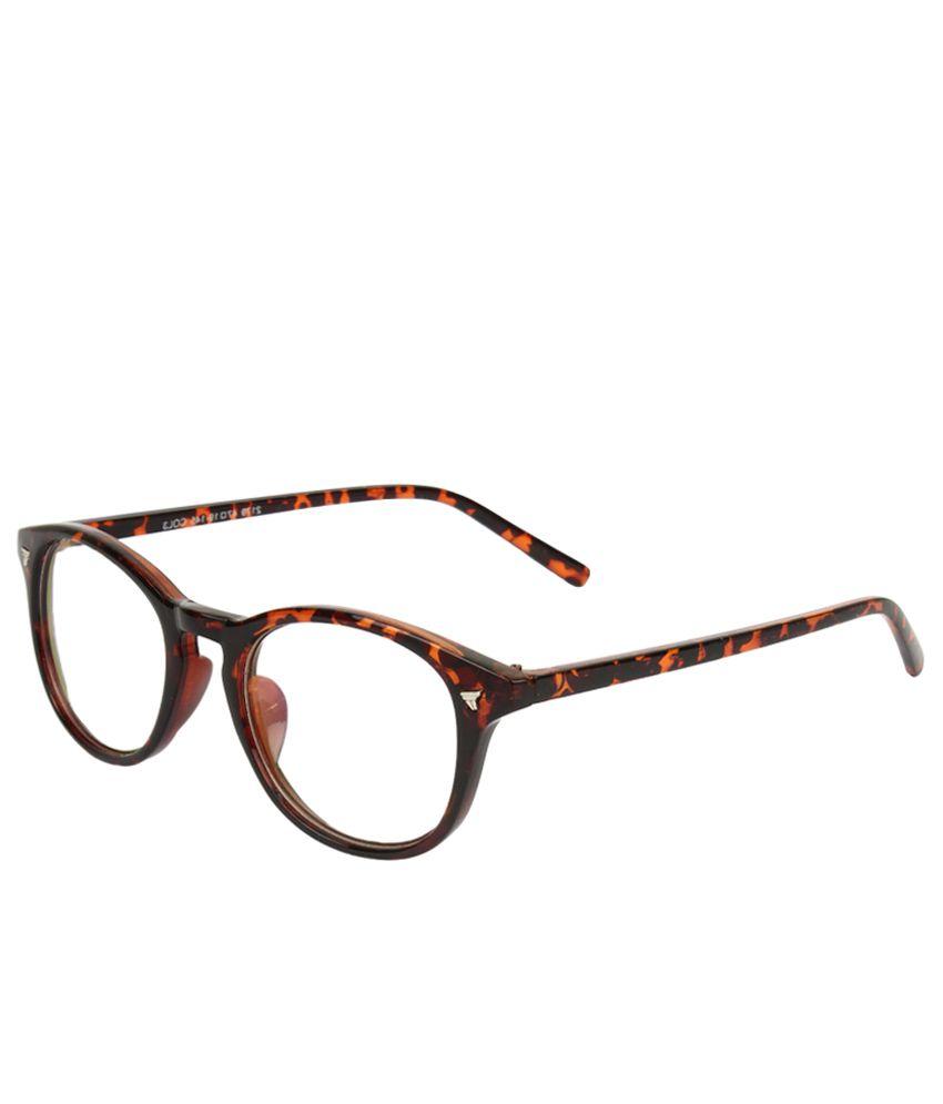 Zyaden Brown Full Rim Round Frame Eyeglasses - Buy Zyaden Brown Full ...