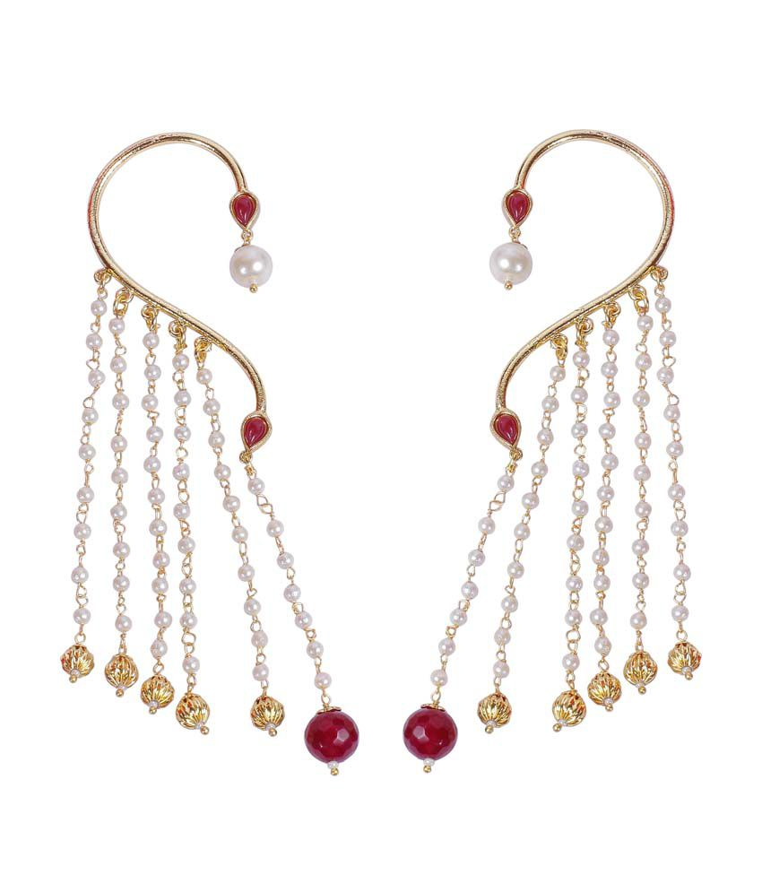 how much are earrings much more beautiful pearl colour fashion polki 6520