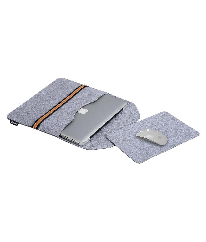 Gizga 13.0 Inch-13.3 inch Protective Felt Laptop Sleeve (Light Grey)