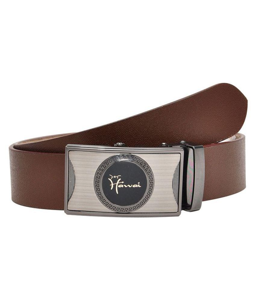 Hawai Brown Leather Formal Belts
