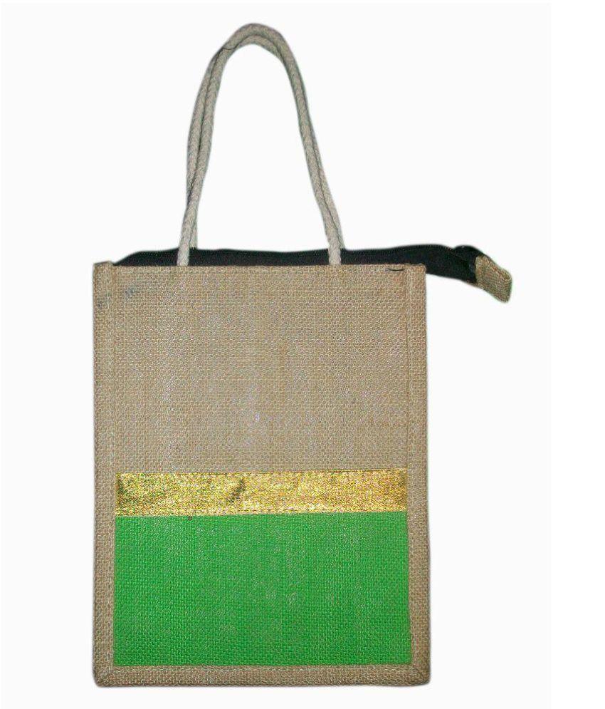 Bharathi Khaki Lunch Bags - 2 Pcs