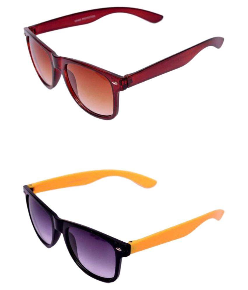 Lobay Multicolor Wayfarer Sunglasses ( )
