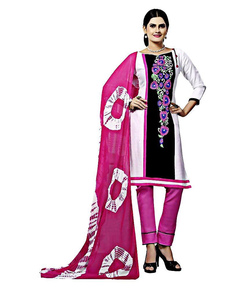Minu Suits Multicoloured Cotton Dress Material
