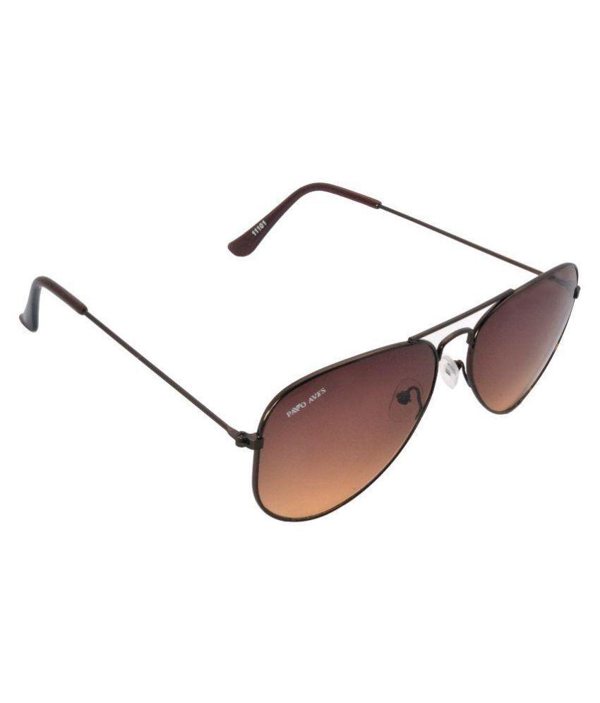 Pavo Aves Brown Aviator Sunglasses ( )