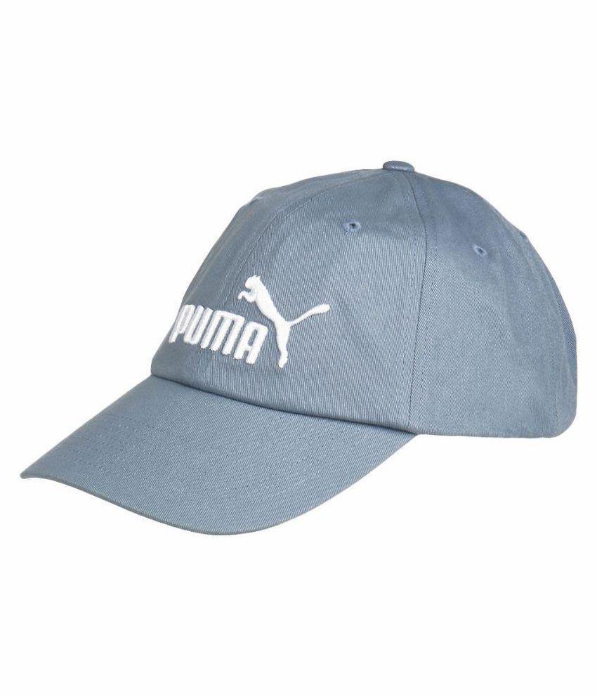 Puma Blue Plain Cotton Caps