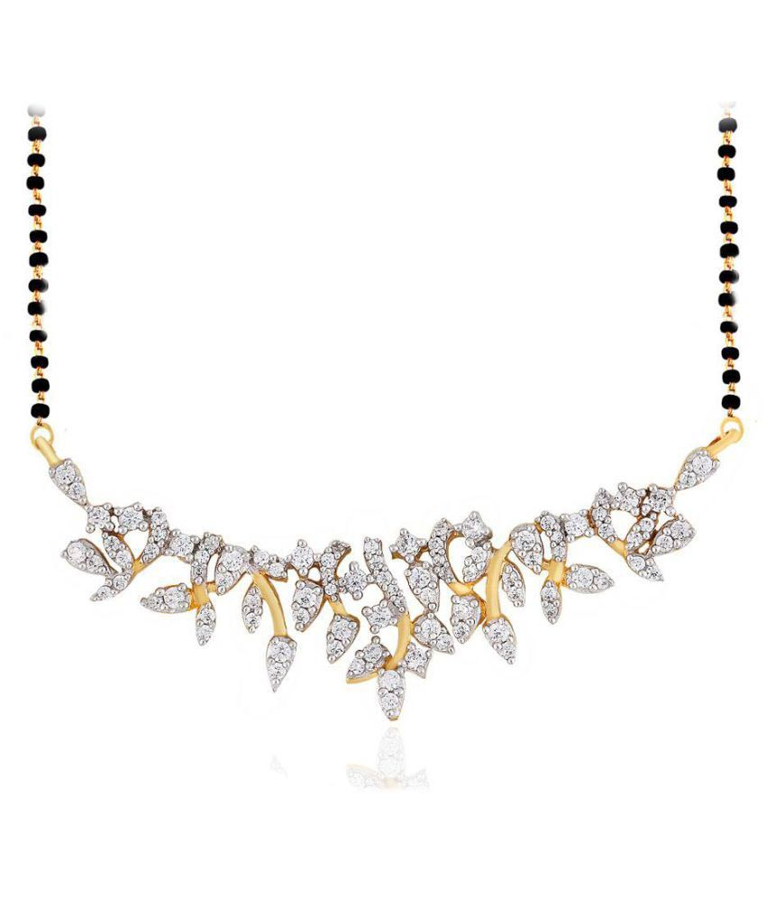 Asmi 18k Yellow Gold Diamond Mangalsutra