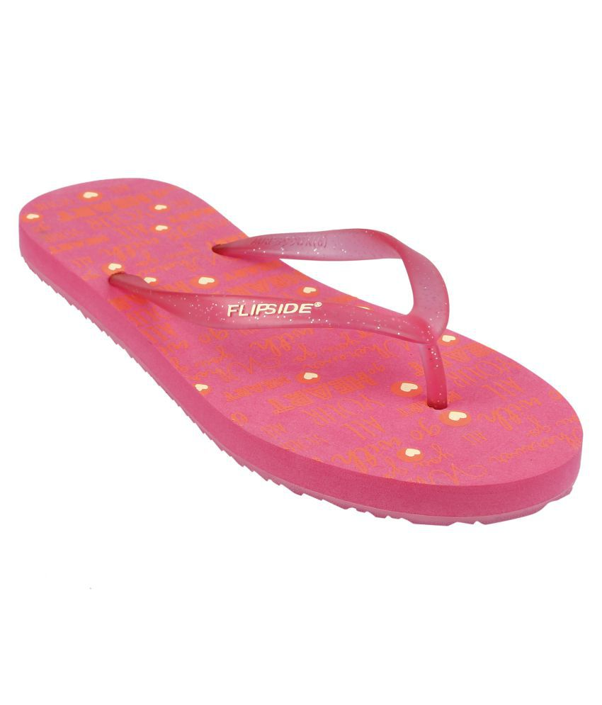 Flipside Womens All Heart Pink Flipflops