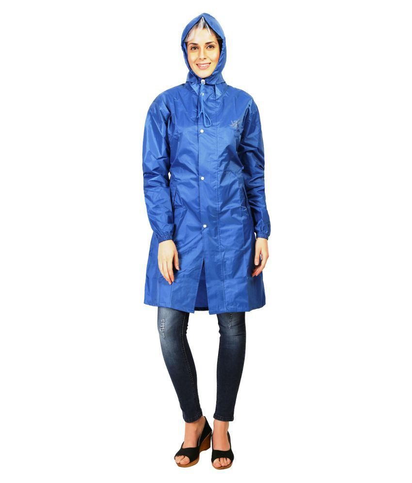 Zeel Blue Polyester Short Rainwear